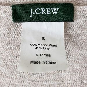J. Crew Sweaters - JCrew Moto Zip Cardigan Wool & Linen Size Small